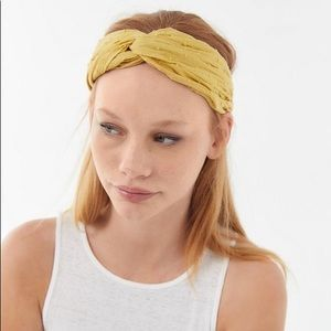 UO Twist Yellow Headband